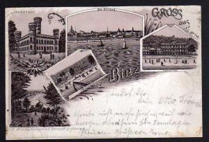 Ansichtskarte Litho Binz Jagdschloss Seeschloss 1898