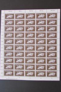 DDR 1956 Bogen 555 Tierpark Berlin Wisent postfrisch mit Druckvermerk DV ungefal