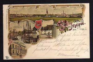 Ansichtskarte Itzehoe Holstein Litho 1897 Klosterhof 23 Prinzesshof Kirche