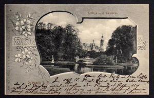Ansichtskarte Schwerin Schloss v. d. Cascaden 1902