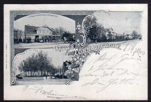 Ansichtskarte Hamburg-Tonndorf Lohe Popps Gasthof Kegelbahn 1900