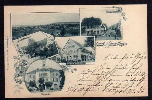 Ansichtskarte Sindelfingen 1899 Bahnhofstrasse Geschäftshaus Hörmann Rathaus Parrhaus