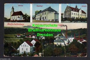 Ansichtskarte Dorf Schellenberg Dorfschellenberg um 1920 Kirche Gasthof Schule Panor