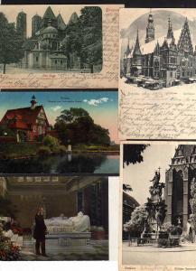 5 Ansichtskarte Breslau Dom Eingang Zoo Rathaus Winterbild 1900 1918