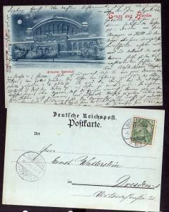 Ansichtskarte Berlin Anhalter Bahnhof 1901