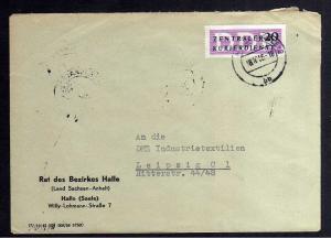 B2298 DDR ZKD 7 Brief Rat des Bezirkes Halle Saale 1956