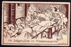 Ansichtskarte Chemnitz 5 Landes Turnfest 1930 Künstlerkarte Die Sägemühle im Quartier