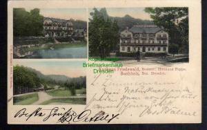 Ansichtskarte Kurhaus Friedewald Buchholz Bez. Dresden 1903 Reichenberg