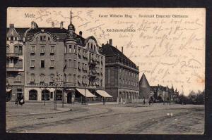Ansichtskarte Metz Kaiser Wilhelm Ring Reichsbank 1907