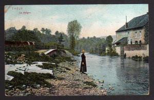 Ansichtskarte Theux La Hoögne 1907 nach Berkley USA