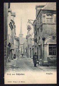 Ansichtskarte Ochsenfurt Badgasse Verlag Huttner um 1910