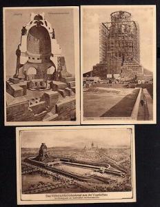 3 Ansichtskarte Leipzig 1912 Völkerschlachtdenkmal im Bau