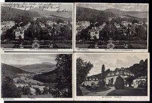 4 Ansichtskarte Bad Brückenau 1928 Schloßhotel Anlage vor dem Hotel Villen