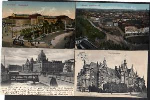 8 Ansichtskarte Leipzig Buchhändlerbörse 1912 Bahnhof Hotel