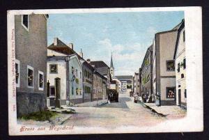 Ansichtskarte Wegscheid Niederbayern Straßenansicht 1903