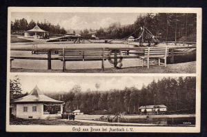 Ansichtskarte Brunn bei Auerbach Freibad Rutsche