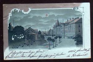 Ansichtskarte Wörishofen Bachstraße mit Kurhaus 2 zeiliger Reservestempel