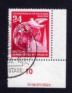 DDR 1952 320 Völkerkongress für den Frieden echt gestempelt DV ungefalten, n