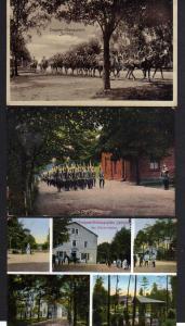 3 Ansichtskarte Truppen Übungsplatz Zeithain Offizier Casino 1916 Husaren 1912