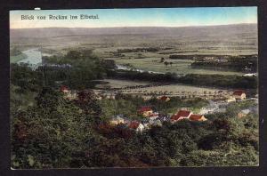 Ansichtskarte Blick von Rockau ins Elbetal 1913