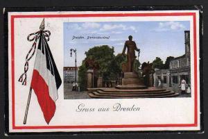 Ansichtskarte Dresden Bismarckdenkmal 1915 Robert Diez