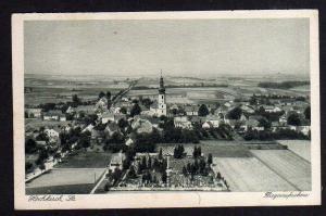 Ansichtskarte Hochkirch Sachsen 1931 Luftbild Fliegeraufnahme Kirche Friedhof