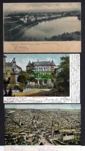 3 Ansichtskarte Chemnitz 1906 Totalansicht Börse Beckerdenkmal 1903