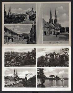2 Ansichtskarte Oelsnitz Vogtl. 1954 Heppeplatz Platz der Freiheit Vogtsberg Taltitz