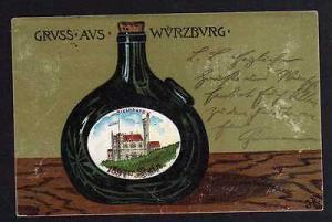 Ansichtskarte Würzburg Steinburg Wein 1897 er Stein