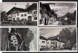 4 Ansichtskarte Mittenwald Alte Bauernhäuser Strassenbild