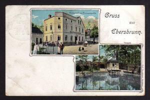 Ansichtskarte Ebersbrunn Lichtentanne restaurant zur Pleißenquelle Tierpark 1908