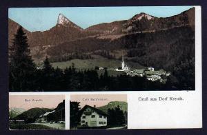 Ansichtskarte Dorf Kreuth Cafe Batz´nhäusl 1919