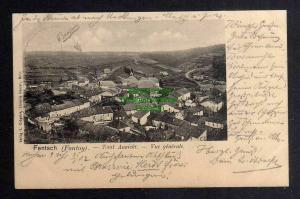Ansichtskarte Fentsch Fontoy 1902 Bahnpost Diedenhofen Audun Le Roman Zug 1000