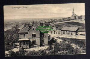 Ansichtskarte Morhange Mörchingen Kirche Wohnhaus Strasse Feldpost um 1915