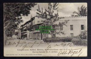 Ansichtskarte Dar es-Salaam DOA D.-O.-Afrika Kaiserstrasse Kathol. Mission 1907