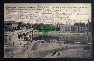 Ansichtskarte Diedenhofen Thionville 1904 Moselbrücke und Lazaret
