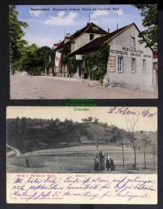 2 Ansichtskarte Spicherer Berg Ostseite 1905 Saarbrücken Historische Goldene Bemm