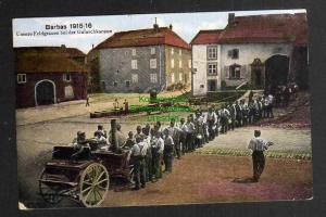 Ansichtskarte Barbas Lothringen 1916 Unsere Feldgrauen bei der Gulaschkanone Militär