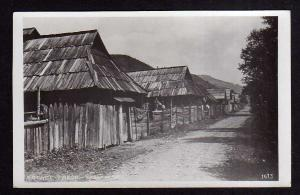 Ansichtskarte Rachov Rachiw Transkarpatien Ukraine 1935 Fotokarte Zadni ulice