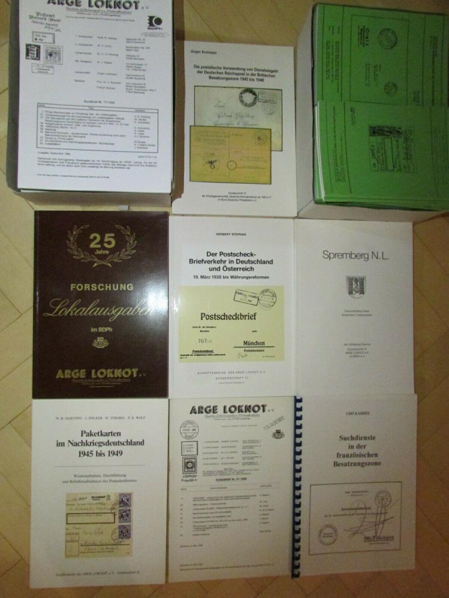 Deutsche Barfrankaturen und Notentwertungen ab 1945 Literaturpaket Hefte 1 - 55 0