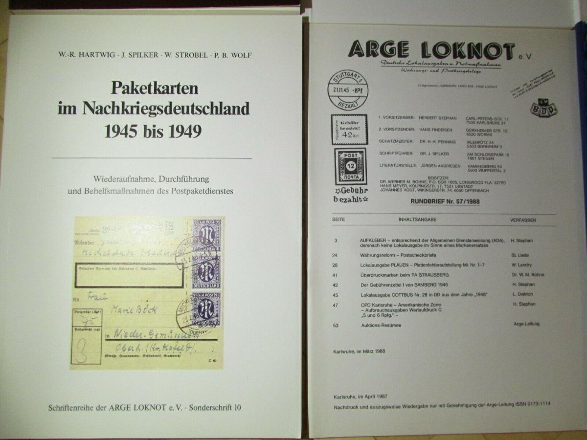 Deutsche Barfrankaturen und Notentwertungen ab 1945 Literaturpaket Hefte 1 - 55 1