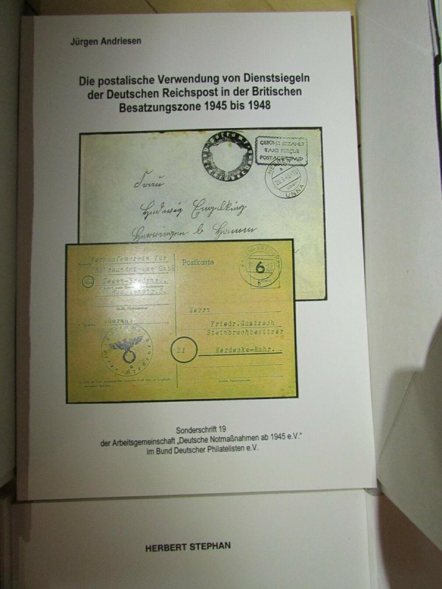 Deutsche Barfrankaturen und Notentwertungen ab 1945 Literaturpaket Hefte 1 - 55 5