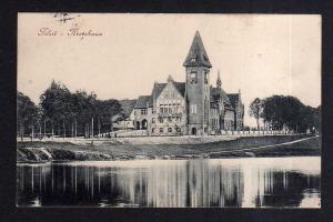 Ansichtskarte Sowetsk Tilsit Ostpreußen Kreishaus Vollbild 1915 Feldpost