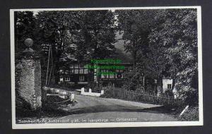 Ansichtskarte Kunzendorf gräfl. im Isergebirge Brücke Dorfstraße Fachwerkhaus 1933