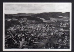 Ansichtskarte Waldenburg Schlesien Luftbild Fliegeraufnahme  um 1935