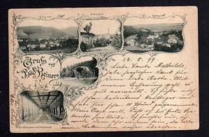 Ansichtskarte Bad Reinerz Schlesien 1899 West Süd Ulriken Quelle Wandelbahn Musik Pa