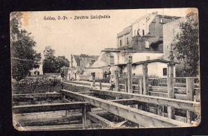 Ansichtskarte Krieg im Osten 1915 Ostpreußen Goldap Zerstörte Schlossmühle 1917