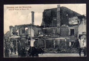 Ansichtskarte Ortelsburg Ostpreußen 1914 nach der Verwüstung durch die Russen Ruinen