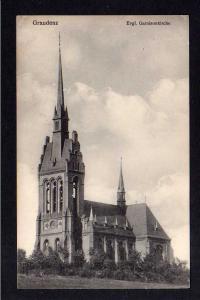 Ansichtskarte Graudenz 1916 Evgl. Garnisonkirche