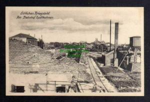 Ansichtskarte Ostpreußen Eydtkuhnen um 1915 Am bahnhof Östliches Kriegsbild